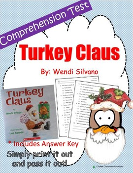 Christmas Comprehension Test: Turkey Claus - First or Seco