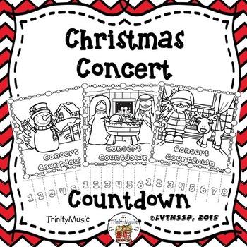 Christmas Concert Countdown Tear-Offs