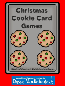 Christmas Cookie Card Games (Multiplication)