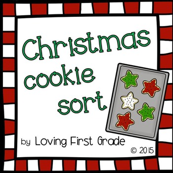 Christmas Cookie Sort (True or False Math Facts Center)