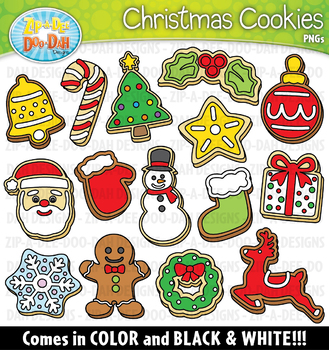 Christmas Cookies Clipart Set — Includes 30 Graphics!