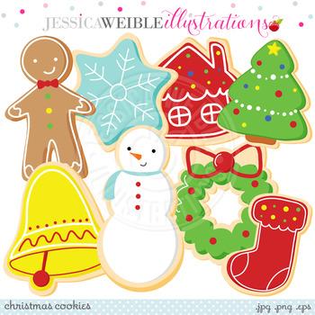Christmas Cookies - Cute Digital Clipart, Christmas Graphics