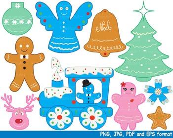 Christmas Cookies Reward Clipart school santa tree train b