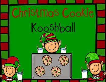 Christmas Cookies and Milk Kooshball Game for SMARTboard