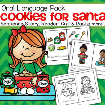 Christmas Cookies - oral language, sequencing, emergent re