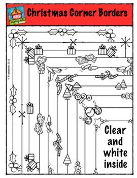 Christmas Corner Borders {P4 Clips Trioriginals Digital Clip Art}