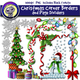 Christmas Clip Art: Corner Borders & Page Dividers
