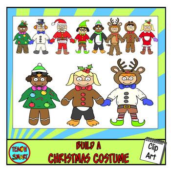 Build a Christmas Costume Clip Art