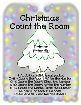 Christmas Count the Room - Ink Friendly - Differentiated Learning