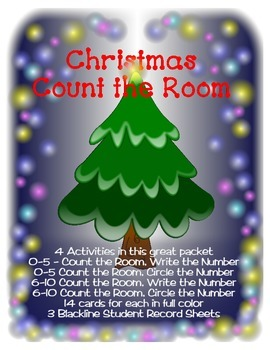 Christmas Count the Room - Primary - Ready to Print and use!