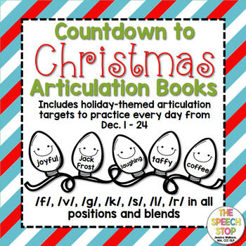 Christmas Countdown Articulation Book Bundle with holiday-