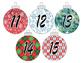 Christmas Countdown numbers