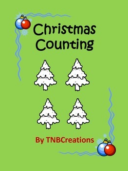 Christmas Math Counting Coloring Worksheets