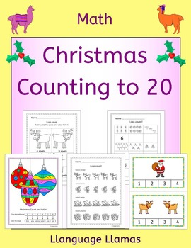 Christmas Counting up to 20 - worksheets, games, taskcards