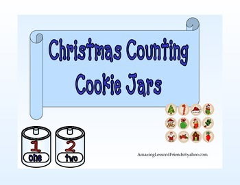 Christmas Counting Cookie Jars