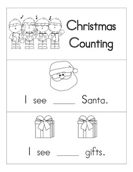 Christmas Counting Emergent Reader