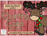 Christmas Counting Money Task Cards!