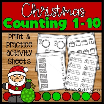 Christmas Counting Numbers 1-10 *NO PREP*