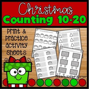 Christmas Counting Numbers 10-20 *NO PREP*