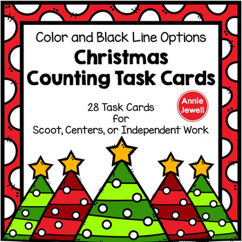 Christmas Counting Task Cards for Kindergarten and 1st Gra