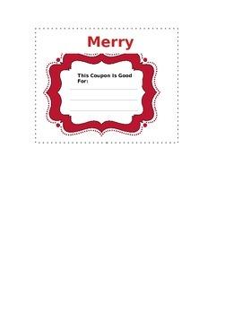 Christmas Coupon Template