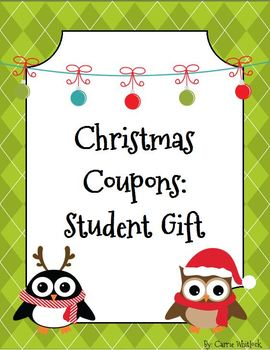 Christmas Coupons - Student Gift FREE!