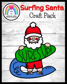 Christmas Craft: Surfing Santa