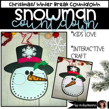 Christmas Craftivity - Snowman Countdown