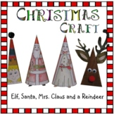Christmas Crafts - Santa, Mrs. Santa, Rudolph, an Elf & 2 Cards