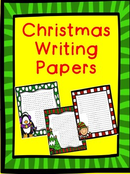 Christmas Creative Writing Paper - 5 different stationary papers!