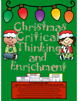 Christmas Critical Thinking and Enrichment Pack