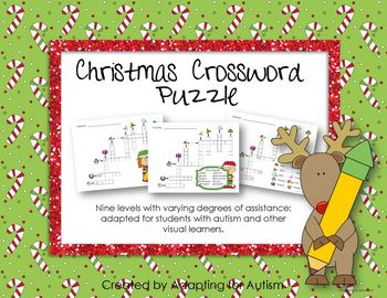 Christmas Game: Adapted Crossword Puzzle (Autism & Special