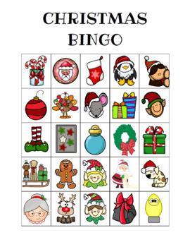Christmas Bingo Custom Printables