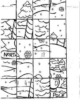 Christmas Cut and Paste Multiplication Puzzle