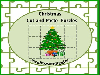 Christmas Activities Cut and Paste Puzzles for Centers or