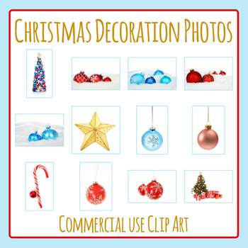 Christmas Decoration Photos / Photograph Clip Art for Comm