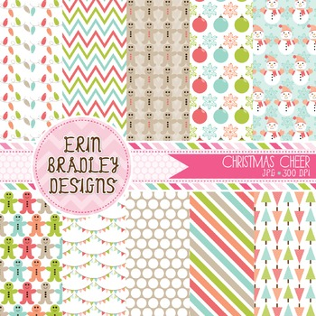 Christmas Digital Background Papers