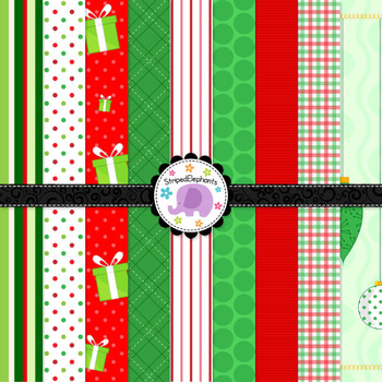 Christmas Digital Papers Jolly