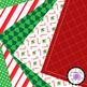 Christmas Digital Papers Joyful