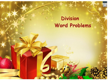 Christmas Division Word Problems Flipchart