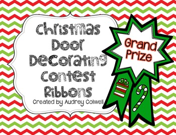 Christmas Door Decorating Contest Ribbons