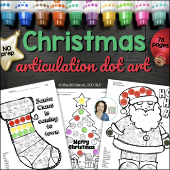 Christmas Dot Art {ALL sounds and no PREP!}