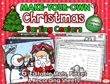 Christmas *EDITABLE* Make-Your-Own Sorting Centers