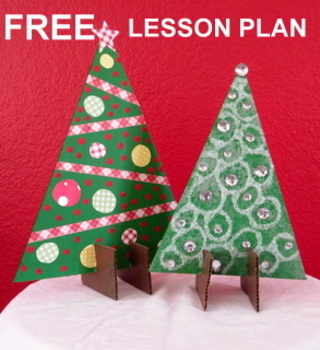"Christmas ""Easy-Art"" Stand-up Christmas Trees-FREE"