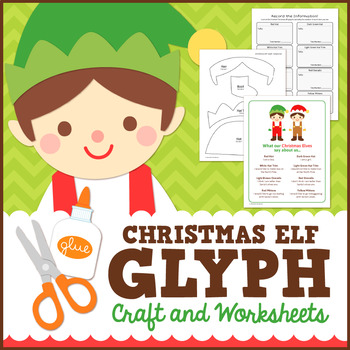 Christmas Elf Glyph Craft and Worksheets