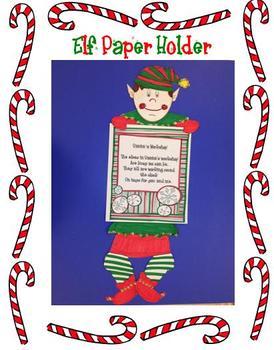 Christmas Elf Paper Holder