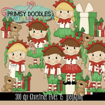 Christmas Elves '15 Clipart