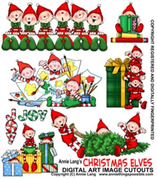 Christmas Elves Character Clipart