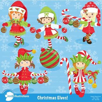 Christmas Elves Cliparts AMB-195