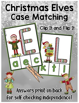 Christmas Elves:  Matching Uppercase & Lowercase Letters
